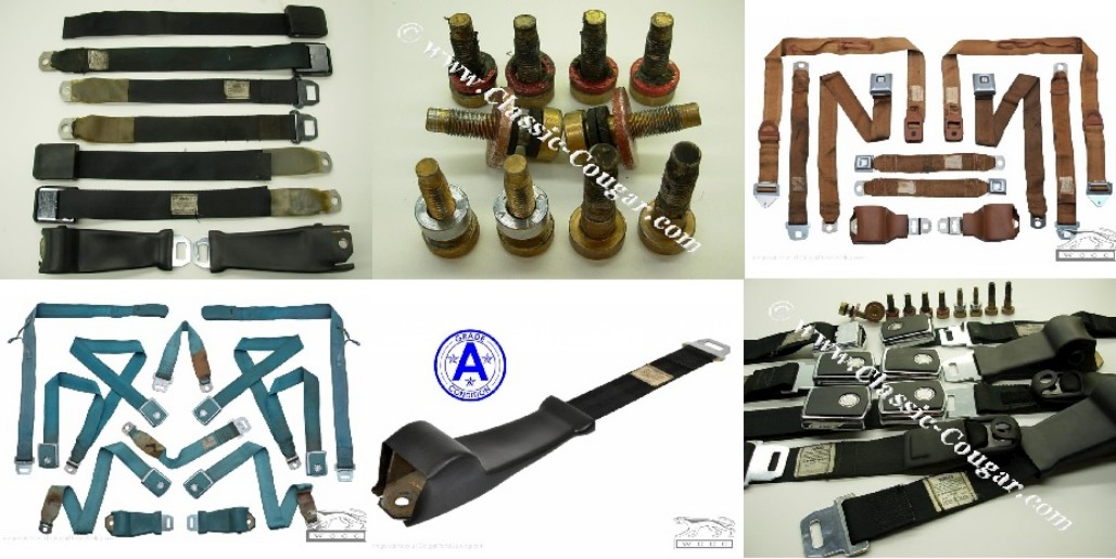 Phone in Seat Belt Orders - Various styles, Colors and Years - Used ~ 1967 - 1973 Mercury Cougar / 1967 - 1973 Ford Mustang